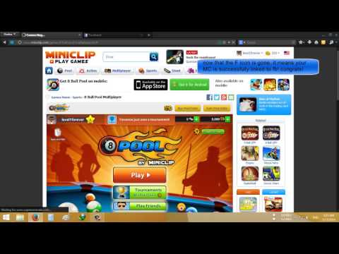 How to link a miniclip acc. to an fb acc.