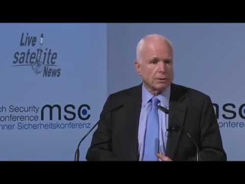 Sen. John McCain at the Munich Security Conference, Feb 17, 2017