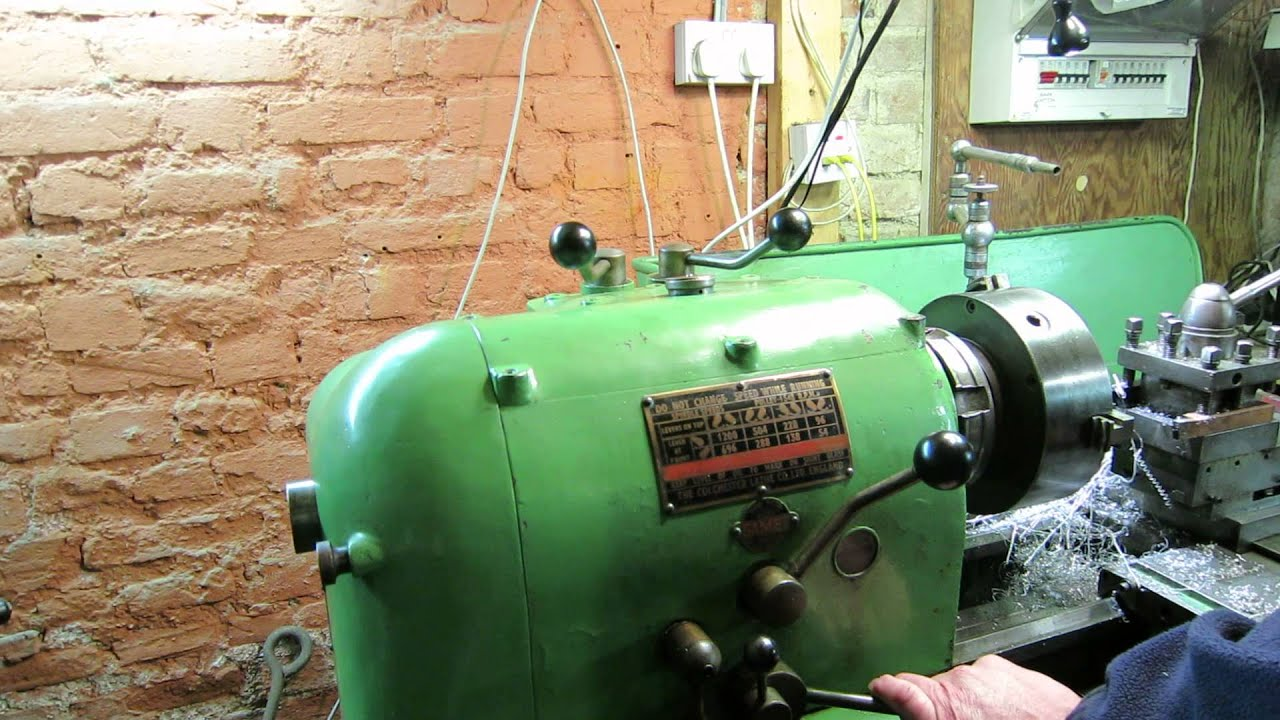 Colchester Student Roundhead Lathe - power cross feed and coolant with  clutch