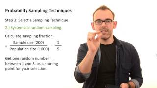 4.2 Probability Sampling Techniques