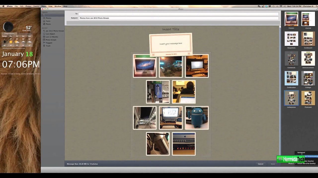 iphoto 11 hidden secrets tips create a collage and email osx lionsnow leopard hd youtube