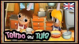 Telmo and Tula - Vanilla ice cream recipe, little cooks cartoons