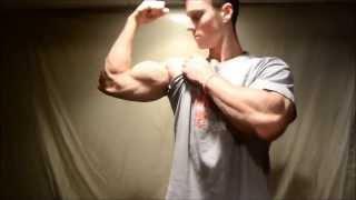 Teen Muscle Zach Zeiler Apple Crush and Bicep Flex / Measure