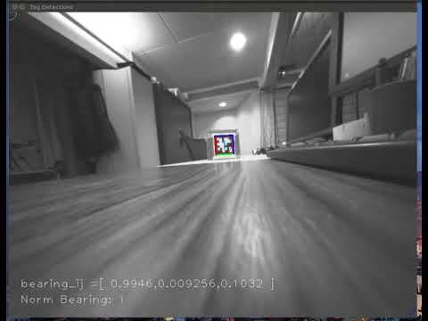 Bearing information from a monocular camera and apriltag2 algorithm