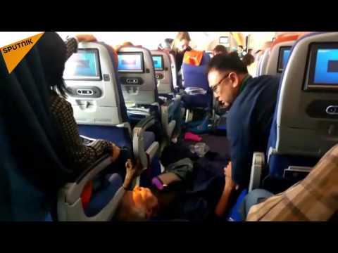 Turbulence On Moscow-Bangkok Aeroflot Flight