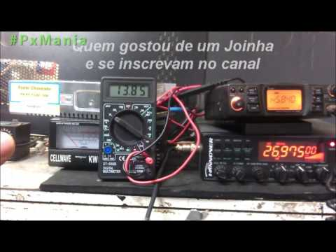 Testando Radio Px Hanover Br9000 e dual band icom ligados Tx ao mesmo tempo na fonte chaveada de 30A