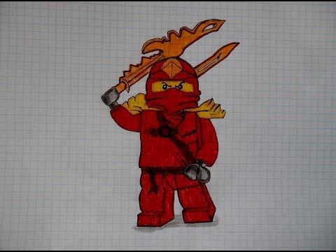 Как нарисовать ниндзяго