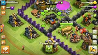 clash of clans master builder gearuping canon to double canon