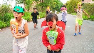 Kids Go to School Learn Colors with Competition Relay Race! Color Song Nursery Rhymes
