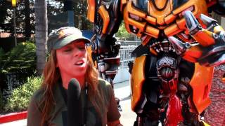 bruna rubio with transformers in hollywood