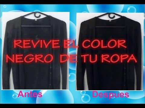 Como devolverle el color a la ropa negra