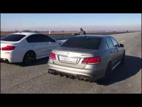 bmw m5 f10 750hp vs mercedes benz e63 amg ???hp - youtube