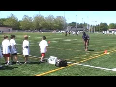 Football: WR Drills w/ Geroy Simon @ Down Set Hut Football Camp