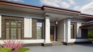 видео Проект каркасного одноэтажного дома c мансардой и гаражом общей площадью 130.10 м2