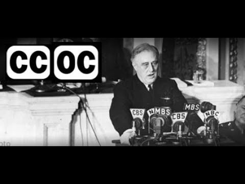 1942, January 6 - FDR - State of the Union - open captioned