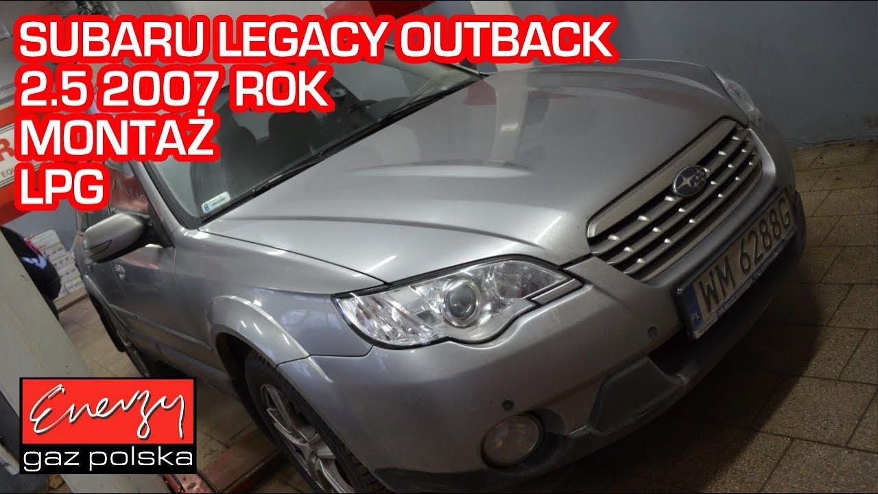 Montaż LPG Subaru Legacy Outback 2.5 173KM 2007r w Energy Gaz Polska na auto gaz KME NEVO