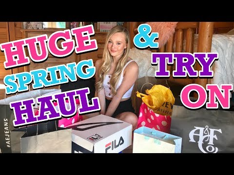Huge Spring Clothing Try On HAUL 2019 with Ella and CC