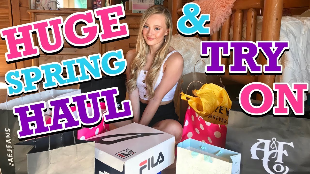 Huge Spring Clothing Try On HAUL 2019 with Ella and CC 6