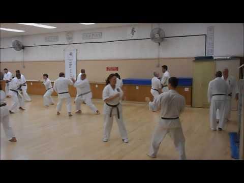Kumite Drill: Attacker Shuffling Maete / Defender Going In Counterattack