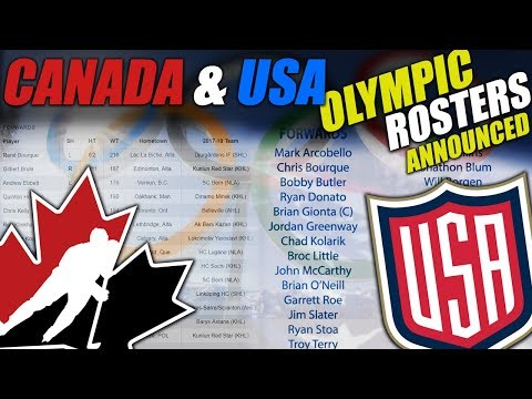 Canada & USA Olympic Team Rosters Announced