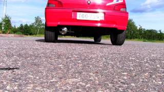 Peugeot 106 Rallye 1.3 Exhaust sound