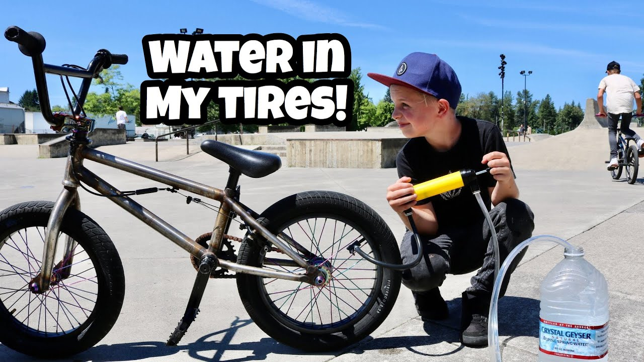 Filling My Tires With WATER! Can I Ride it?!