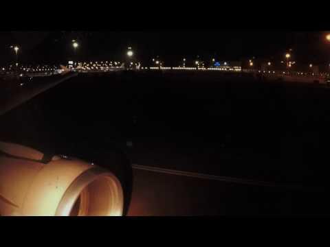 Swiss A320-214 Night Landing in Amsterdam