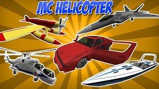 MC HELICOPTER: CARROS REALISTAS, AVIÕES, EMBARCAÇÕES - TUTORIAL MINECRAFT MOD 94# (PT BR)