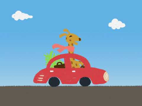 Driving Giraffe Animation made with Adobe After Effects 飆車的長頸鹿動畫