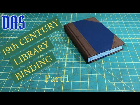 19th Century Half Leather Library Binding Part 1 Of 4 // Adventures In Bookbinding