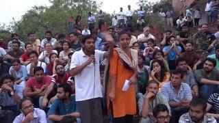 JNUSU GS Rama Naga's Powerful Speech on 10th Day Hunger Strike at Freedom Square JNU