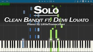 Clean Bandit - Solo (Piano Cover) ft. Demi Lovato by LittleTranscriber