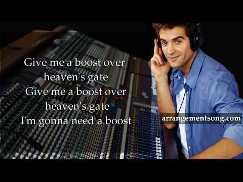 Fall Out Boy - Heaven's Gate - Lyrics Backing Track Karaoke Minus F#m (original key)