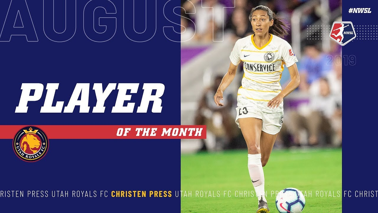 Christen Press, Utah Royals FC | August #NWSL Player of the Month