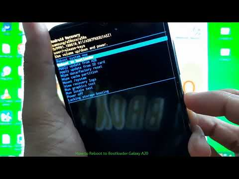 How To Reboot To Bootloader Galaxy A20