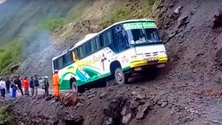 Insane Bus VS Dangerous Roads ! Amazing Bus Driving Skills