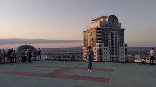 #1 Грозный с 31-го этажа смотровой площадки. Вид в сторону проспекта Кадырова, сентябрь 2019