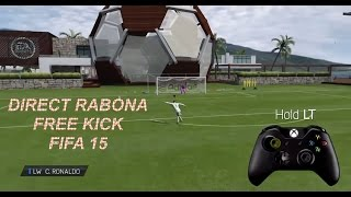 Direct Rabona Free Kick Tutorial on FIFA 15 (Xbox One and PS4)