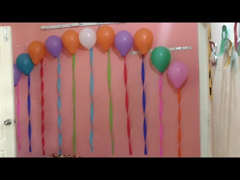 Easy way to decorate room | Birthday party Decoration | Birthday Decoration for BF | For Sister