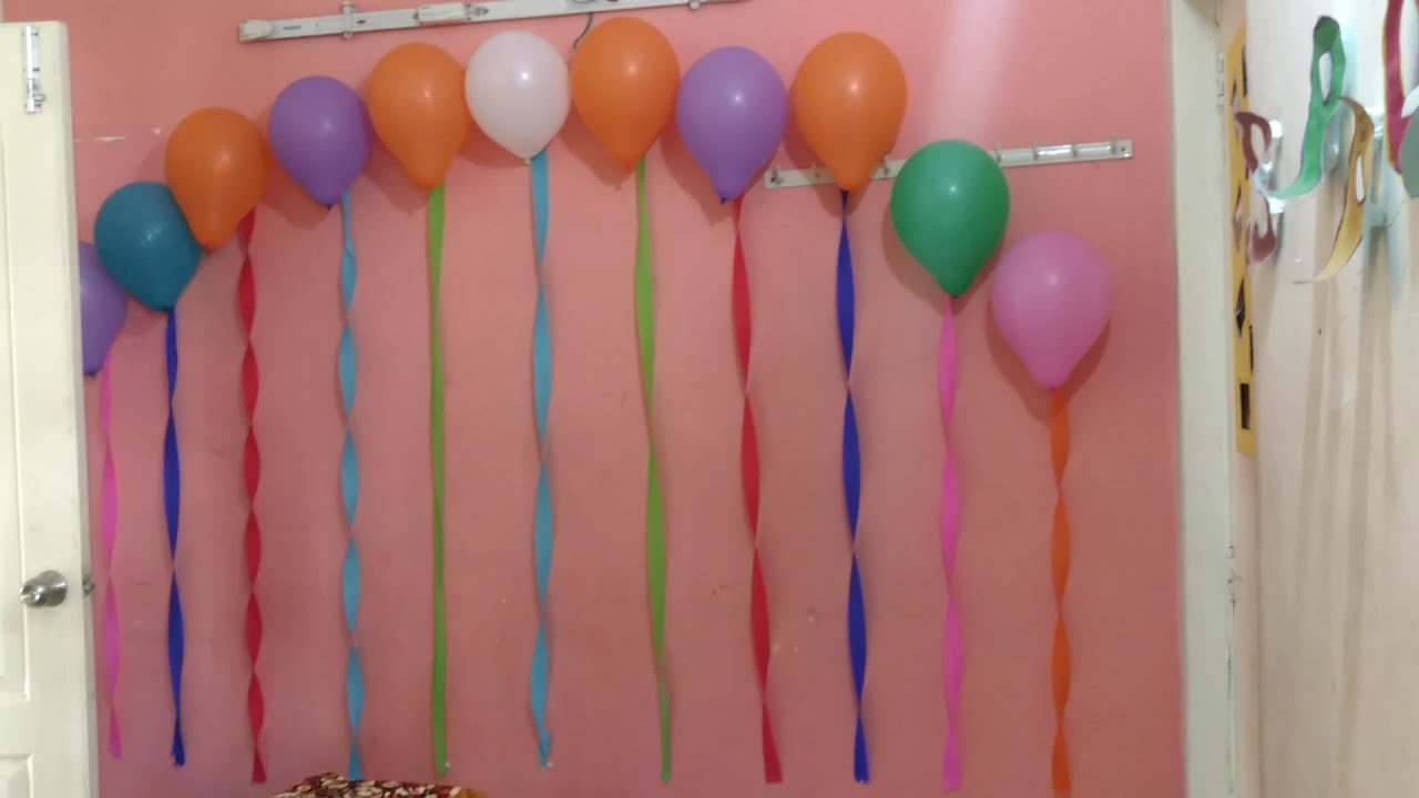 Easy Way To Decorate Room Birthday Party Decoration