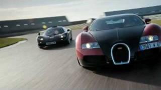 Mr Bean test Bugatti Veyron vs McLaren F1