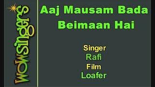 Aaj Mausam Bada Beimaan Hai - Hindi Karaoke - Wow Singers