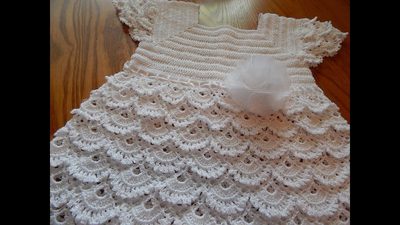 Vestido Crochet Para Niña 5 Años Parte 2 De 3