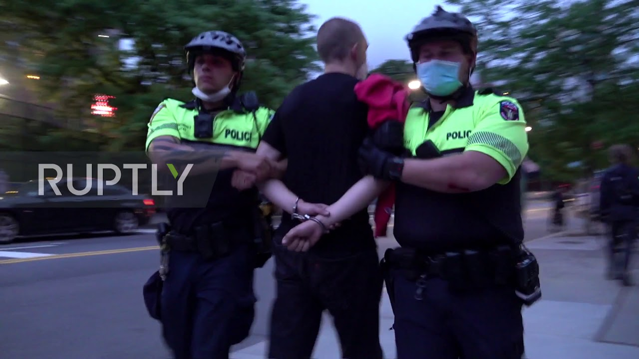 12 arrested after peaceful protest turns into 'anarchy' in downtown ...