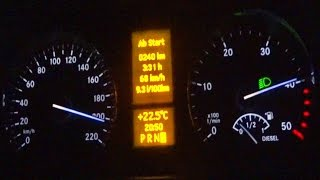 Mercedes Vito V6  TOP SPEED RUN(testdrive Mercedes Vito 3.0 V6 122 CDI with fast acceleration 0-100 / 0-200 and top speed run on Autobahn. Hello and welcome to the