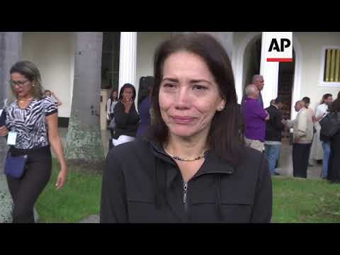 Tears and condemnation at funeral of Venezuela opposition activist