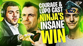 COURAGE AND LUPO CAST NINJA'S INSANE WIN! (Fortnite: Battle Royale)