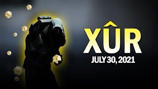 Xur Location & Exotics 7-30-21 / July 30, 2021 [Destiny 2]