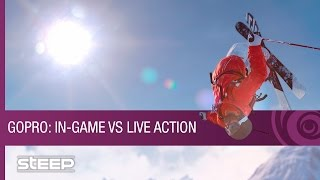 Steep Trailer - GoPro Gameplay: In-Game Vs. Live Action
