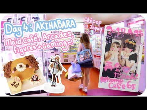 CUTEST MAID CAFE EVER!!?♪ | Day 4 - Akihabara! Anime & Arcades♪ | Abipop in Japan 3 - 2017 ♡